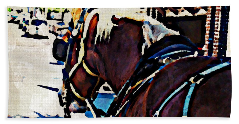 Horse Bath Sheet featuring the photograph Carriage Horse by Alice Gipson