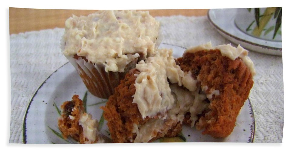 Food Bath Sheet featuring the photograph Carrot Muffins by Mary Deal
