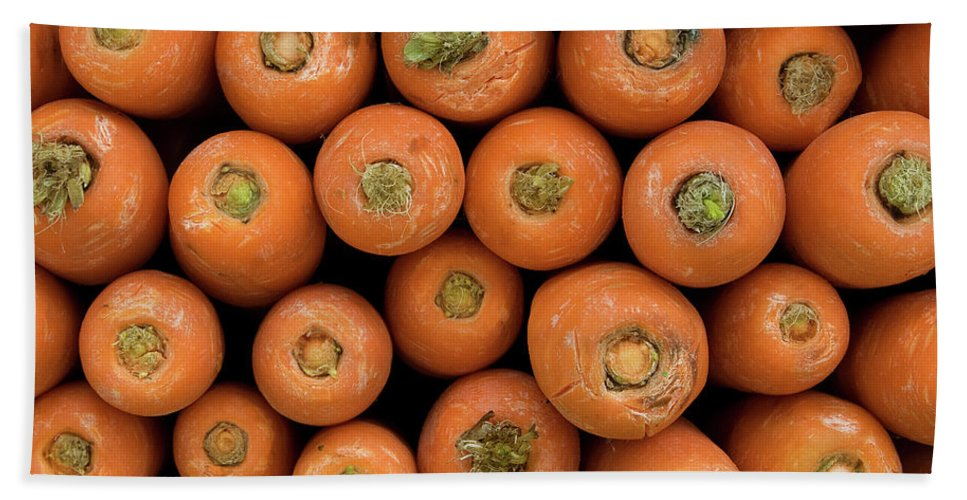 Carrot Bath Sheet featuring the photograph Carrots by Rick Piper Photography