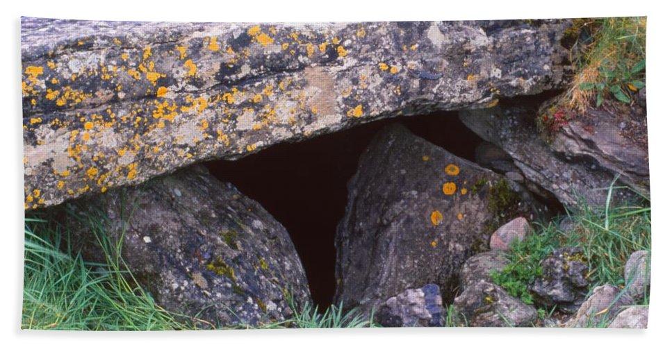 Dolmen Tomb Bath Sheet featuring the photograph Carrowmore by Cynthia Wallentine