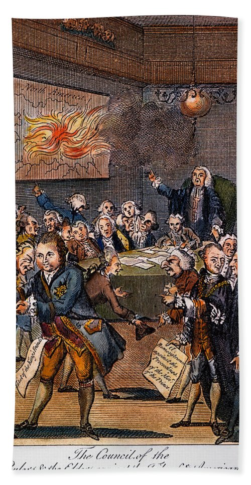 1770s Hand Towel featuring the photograph Cartoon: Politicians by Granger