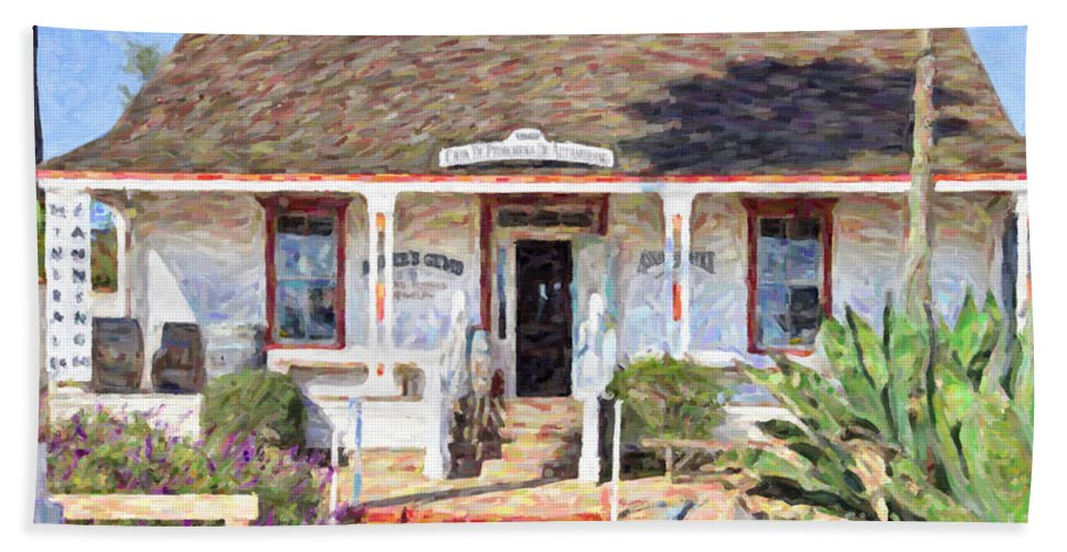 Casa Pedrorena De Altamirano Hand Towel featuring the digital art Casa De Pedrorena De Altamirano by Liz Leyden