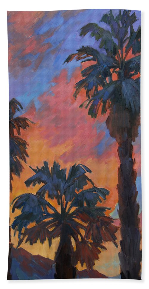 Casa Tecate Hand Towel featuring the painting Casa Tecate Sunrise by Diane McClary