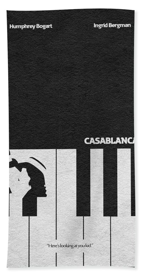 Casablanca Bath Towel featuring the digital art Casablanca by Inspirowl Design