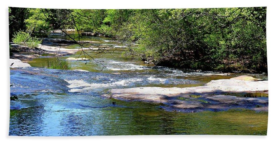 Cascade Bath Sheet featuring the photograph Cascade Creek by Tara Potts