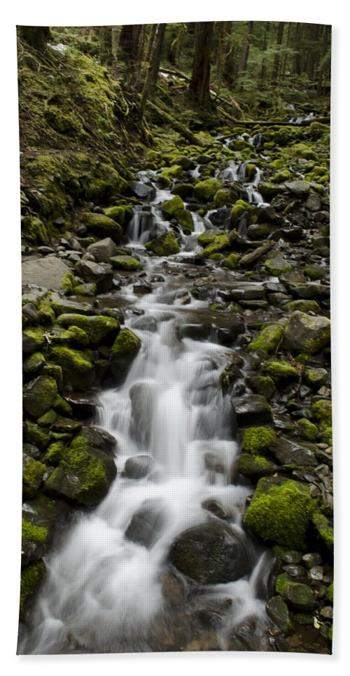 Cascades Hand Towel featuring the photograph Cascade by Heather Applegate
