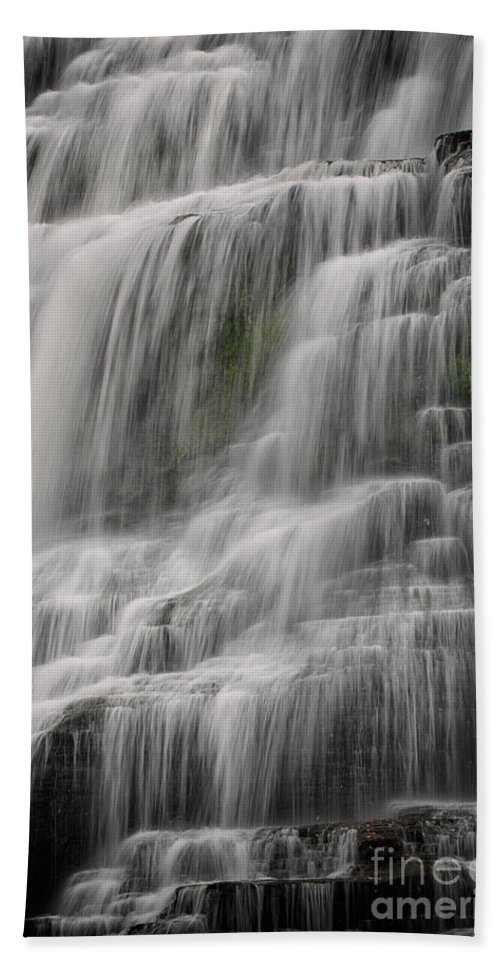 Waterfall Bath Sheet featuring the photograph Cascade by Jerry Fornarotto