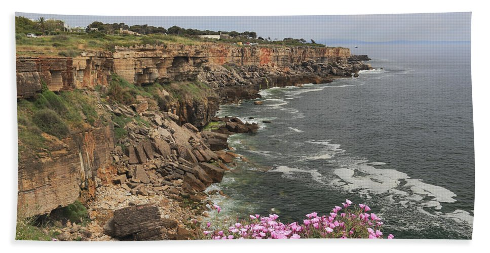 Atlantic Hand Towel featuring the photograph Cascais Coastline Portugal by Ivan Pendjakov