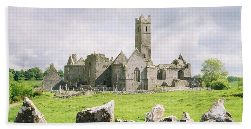 Ireland Abbey Ruins Hand Towel featuring the photograph Cashel Abbey by Michael Cressy