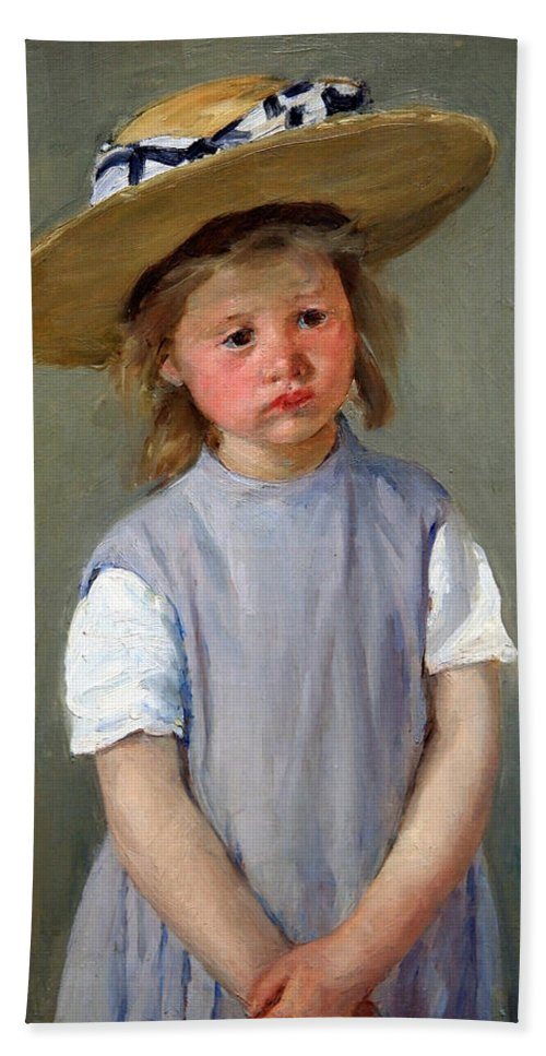 Child In A Straw Hat Bath Sheet featuring the photograph Cassatt's Child In A Straw Hat by Cora Wandel