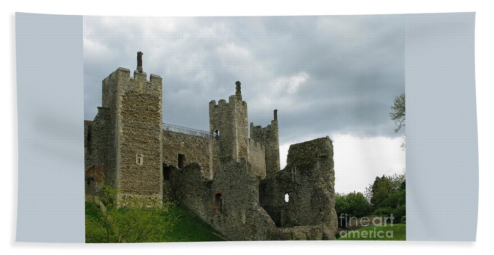 Castle Hand Towel featuring the photograph Castle Curtain Wall by Ann Horn