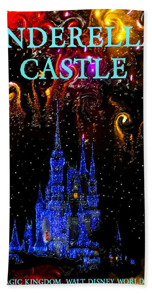 Castle Dreams Hand Towel featuring the painting Castle Dreams by David Lee Thompson