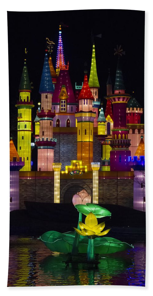 Castle Hand Towel featuring the photograph Castle Lantern by Debby Richards