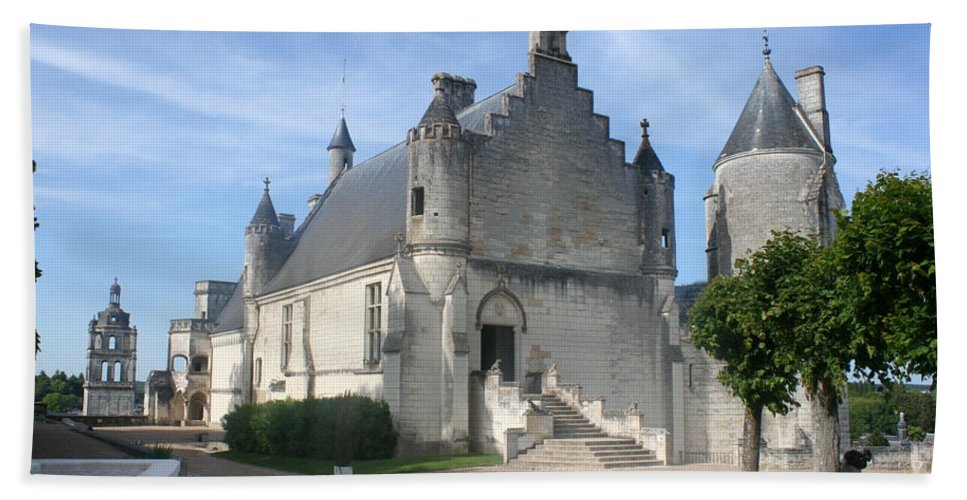 Castle Bath Sheet featuring the photograph Castle Loches - France by Christiane Schulze Art And Photography