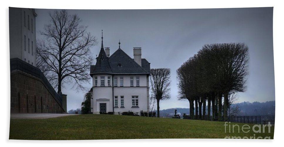 Castle Bath Sheet featuring the photograph Castle Ploen Gatekeeper's House by Mickey At Rawshutterbug