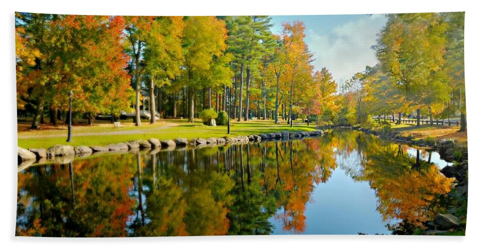 Landscape Hand Towel featuring the photograph Casually by Diana Angstadt