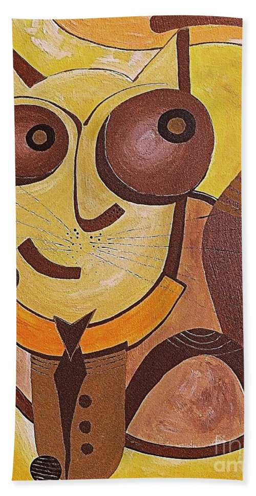 Moon Bath Sheet featuring the digital art Cat 434-08-13 Marucii by Marek Lutek