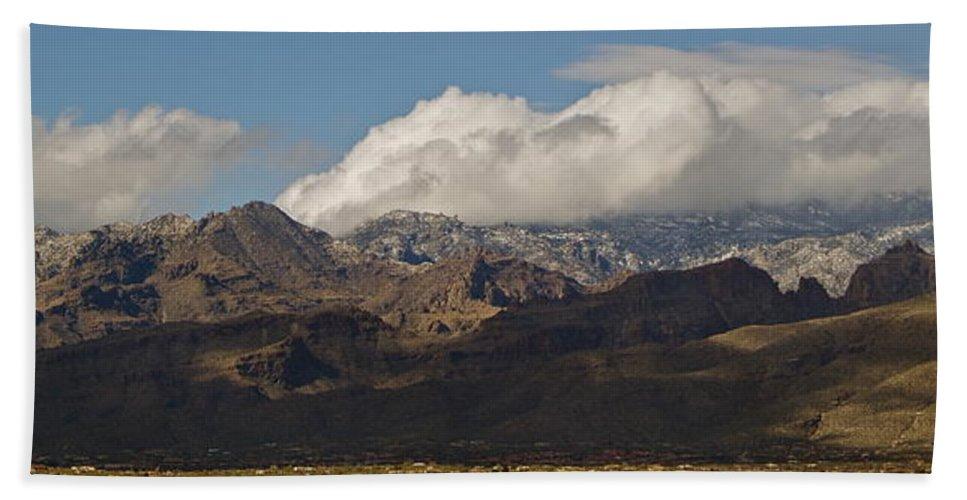 Catalina Mountains Bath Sheet featuring the photograph Catalina Mountains Tucson Arizona by Eduardo Palazuelos Romo