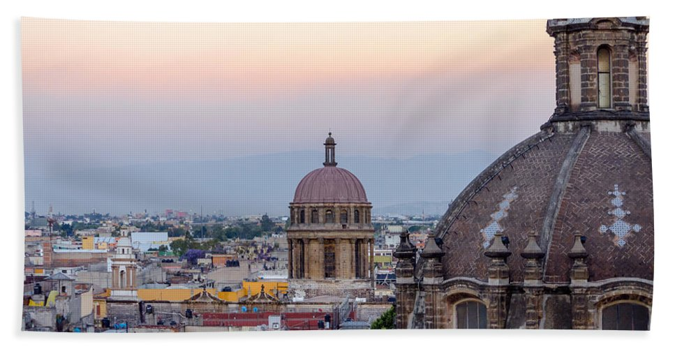 Mexico Bath Sheet featuring the photograph Cathedral Dome And City by Jess Kraft