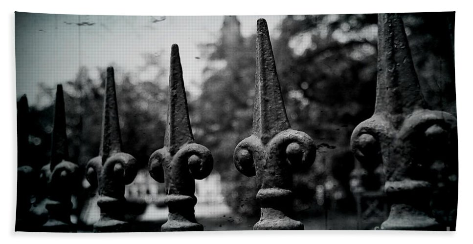 Wrought Iron Hand Towel featuring the photograph Cathedral Fence by Scott Pellegrin