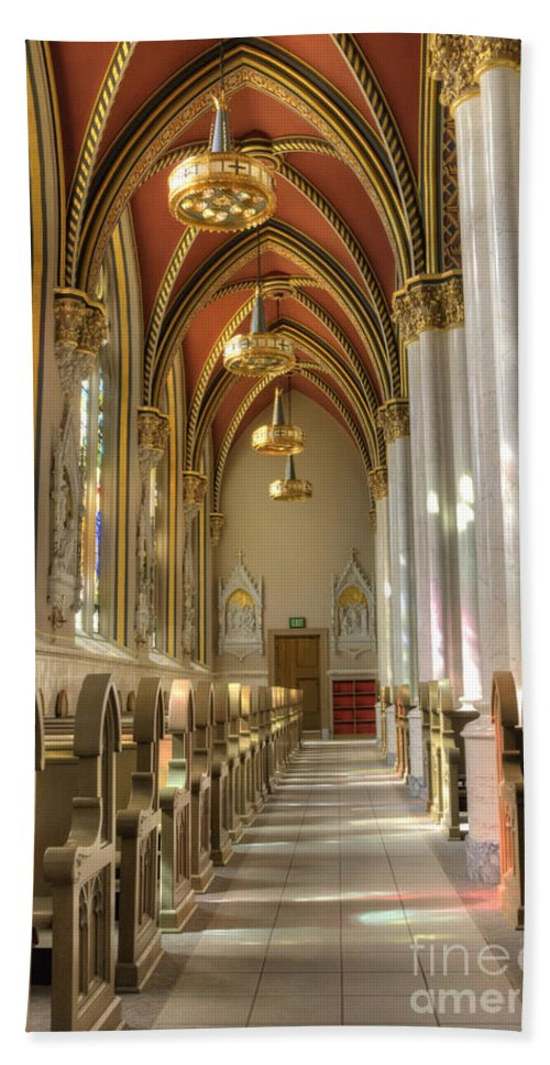 Arch Bath Sheet featuring the photograph Cathedral Of Saint Helena by Juli Scalzi