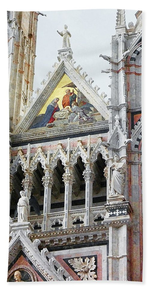 Italy Bath Sheet featuring the photograph Cathedrals Of Tuscany Siena Italy by Irina Sztukowski
