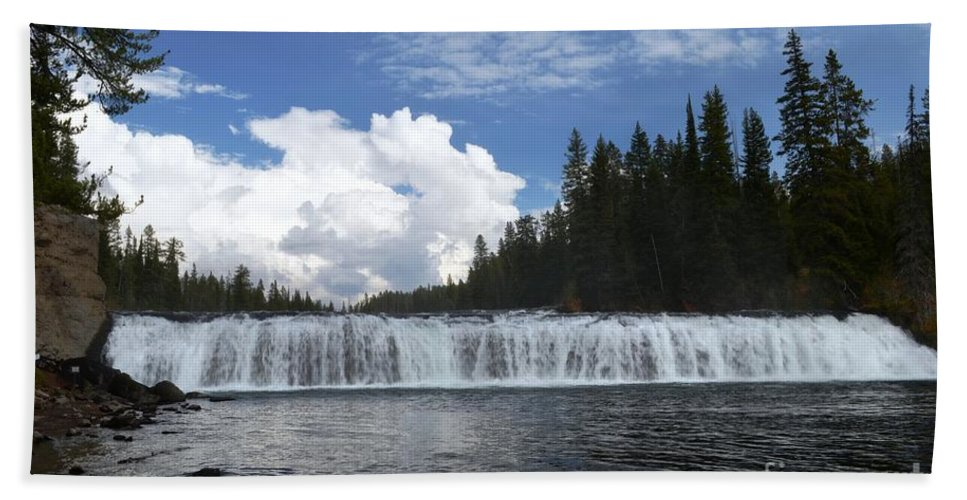 Cave Falls Bath Sheet featuring the photograph Cave Falls by Deanna Cagle