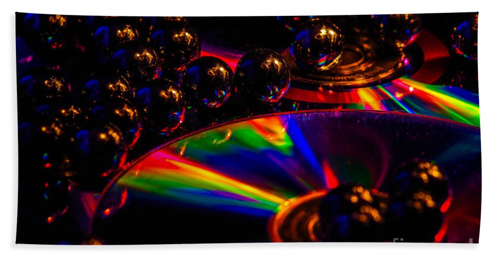 Bath Sheet featuring the photograph Cd Art 3 by Gerald Kloss