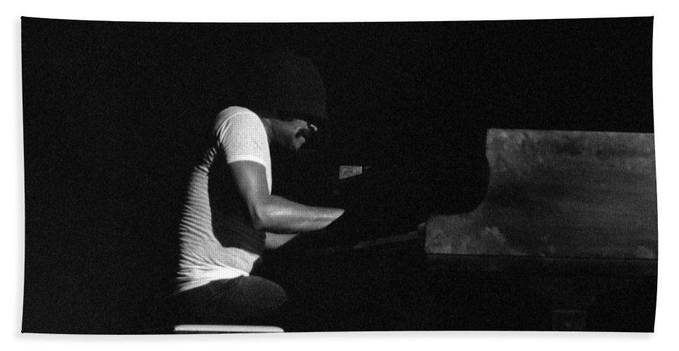 Jazz Bath Sheet featuring the photograph Cecil Taylor 2 by Lee Santa