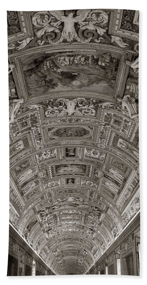 Vatican Museum Bath Sheet featuring the photograph Ceiling Of Hall Of Maps by Michael Kirk