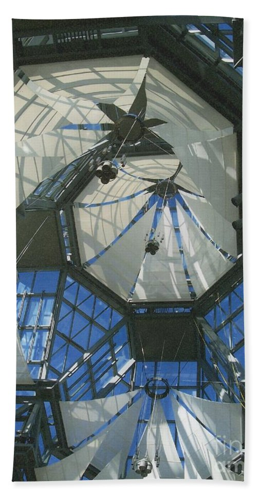 First Star Hand Towel featuring the photograph Ceiling Sails by First Star Art