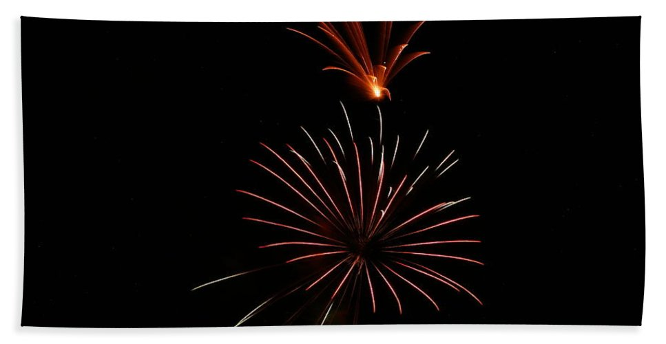 Fireworks Bath Sheet featuring the photograph Celebration Xl by Pablo Rosales