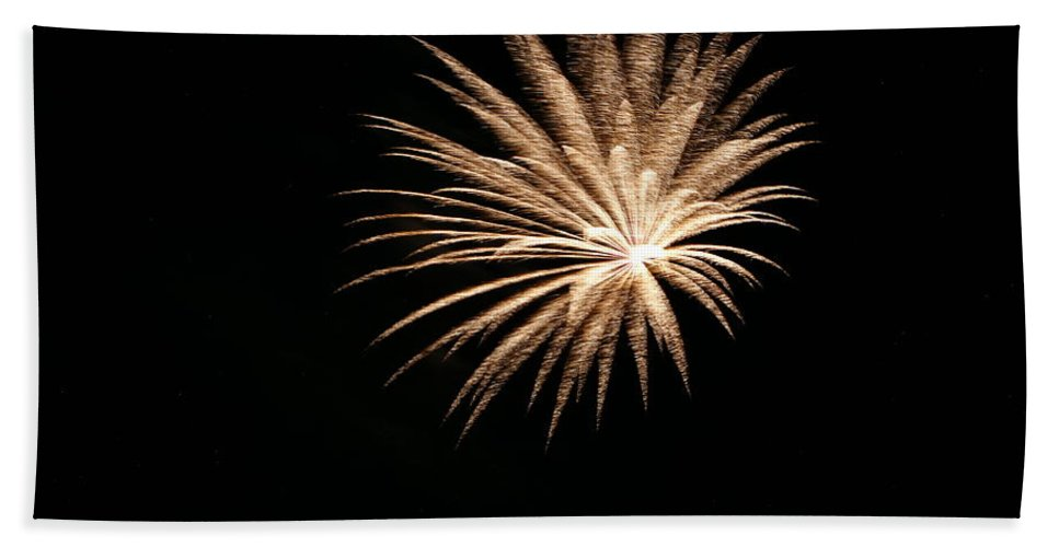 Fireworks Bath Sheet featuring the photograph Celebration Xlii by Pablo Rosales