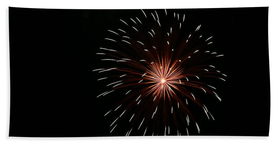 Fireworks Bath Sheet featuring the photograph Celebration Xliv by Pablo Rosales