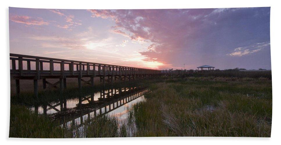 Sarasota Bath Sheet featuring the photograph Celery Fields Sunset by Sandy Swanson