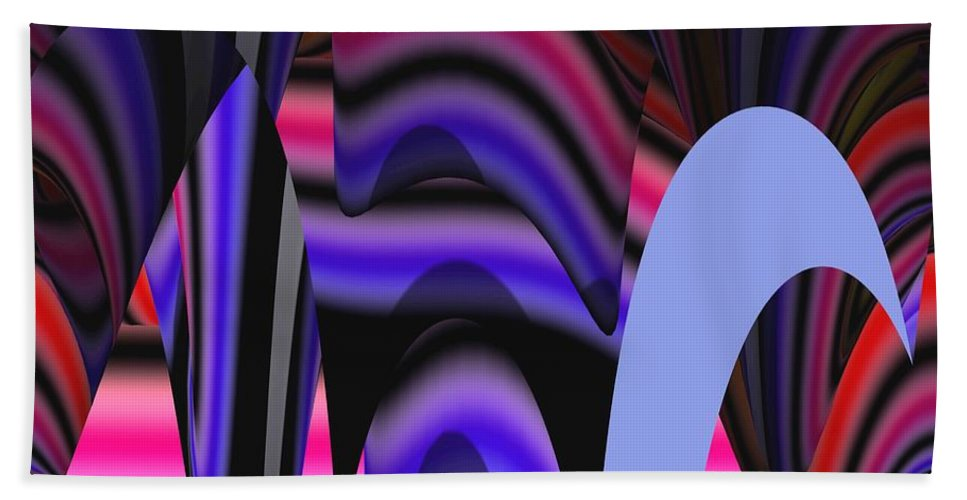 Abstract Digital Art Hand Towel featuring the painting Celestial Cave Digital Art by Georgeta Blanaru