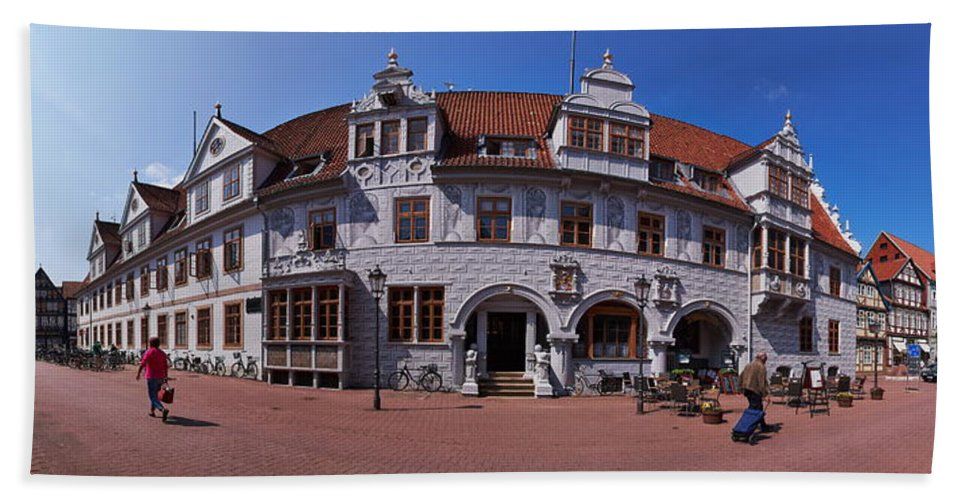 Alankomaat Hand Towel featuring the photograph Celle Rathaus by Jouko Lehto