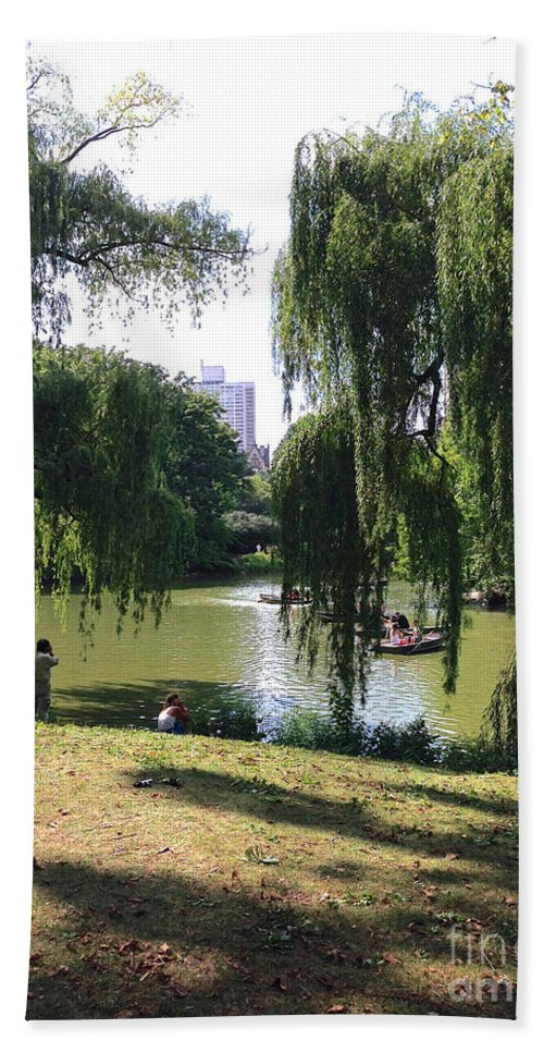 Central Park Hand Towel featuring the photograph Central Park In The Summer by Christy Gendalia