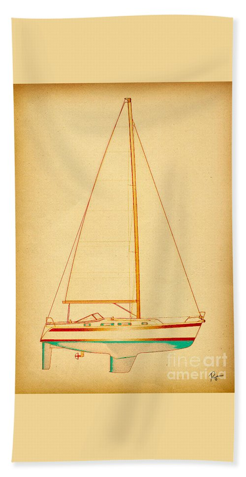 Regina Gallant Hand Towel featuring the drawing Ceq Reggae by Regina Marie Gallant