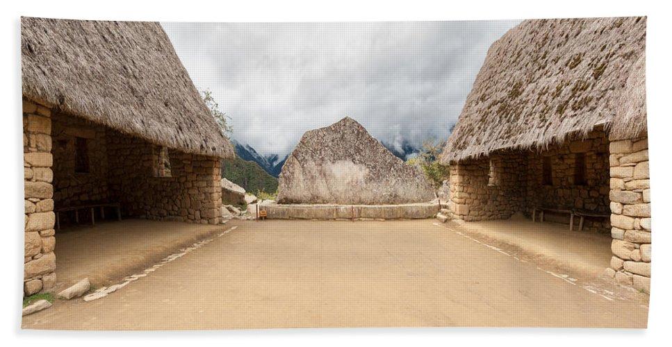 Ceremonial Rock Bath Sheet featuring the photograph Ceremonial Rock by U Schade