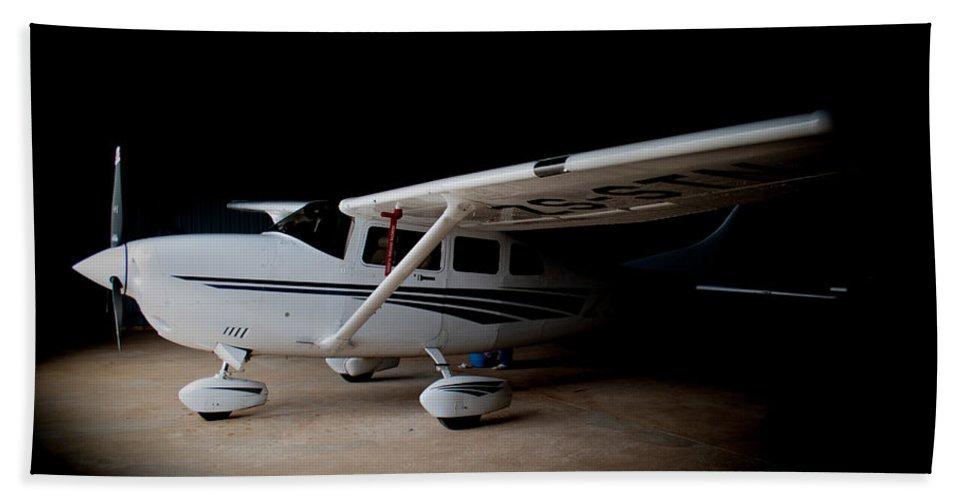 Cessna Bath Sheet featuring the photograph Cessna Waiting by Paul Job
