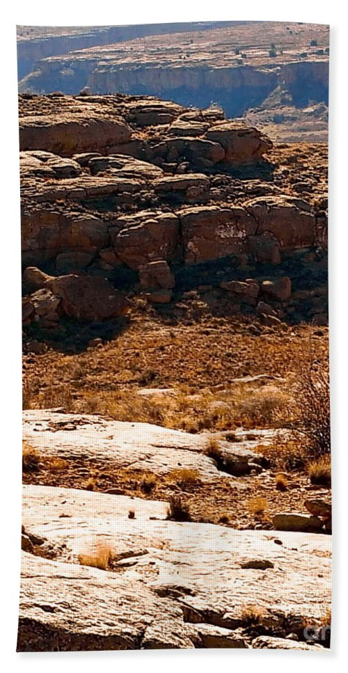Color Photo Hand Towel featuring the digital art Chaco Canyon by Tim Richards