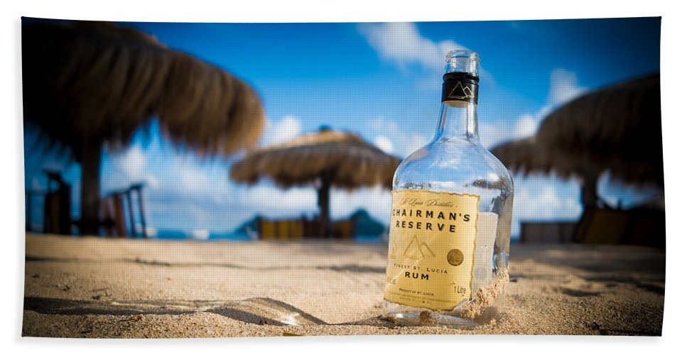 Gros Islet Bath Sheet featuring the photograph Chairman's Reserve Rum by Ferry Zievinger