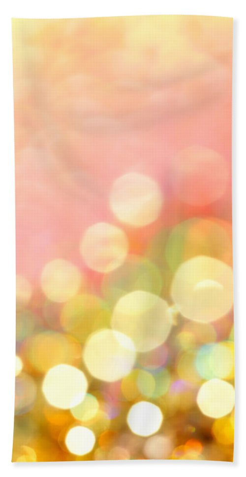 Abstract Hand Towel featuring the photograph Champagne Supernova by Dazzle Zazz