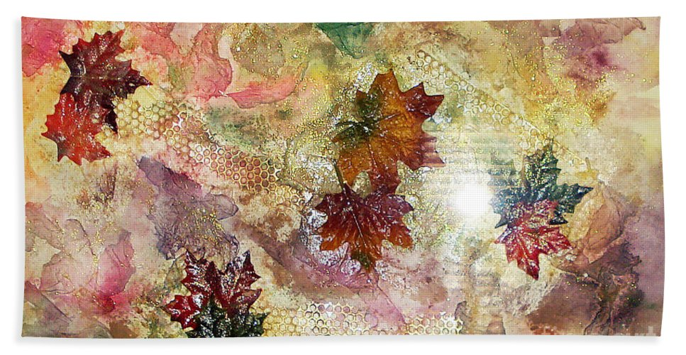 Water Color Abstract Bath Sheet featuring the mixed media Change In You II by Yael VanGruber