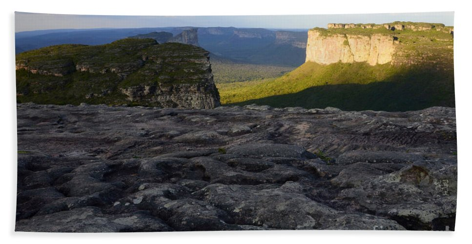 Chapada Hand Towel featuring the photograph Chapada Diamantina Landscape by Bob Christopher