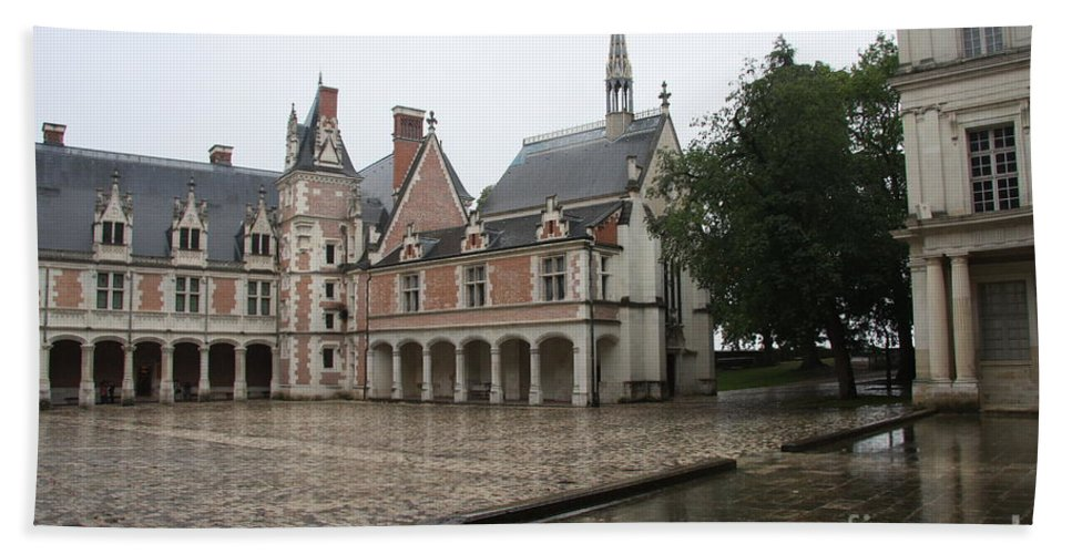 Palace Hand Towel featuring the photograph Chapel And Courtyard Chateau Blois by Christiane Schulze Art And Photography
