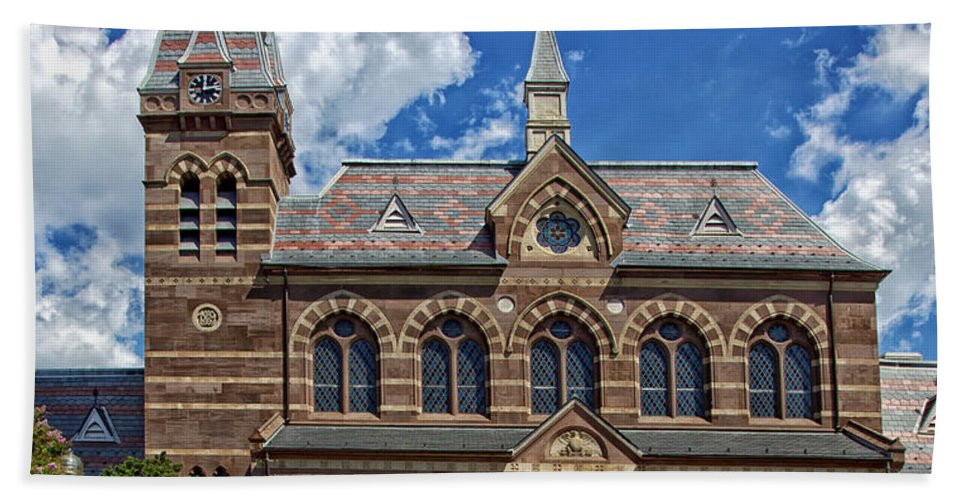 Chapel Hall Bath Sheet featuring the photograph Chapel Hall by Mountain Dreams