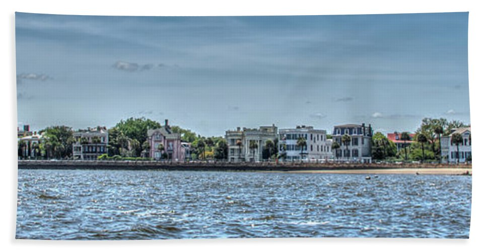 Charleston Hand Towel featuring the photograph Charleston Banner by Dale Powell