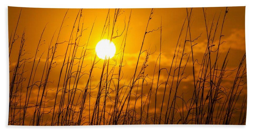 Charleston Bath Sheet featuring the photograph Charleston Beach Sunrise by Chris Austin